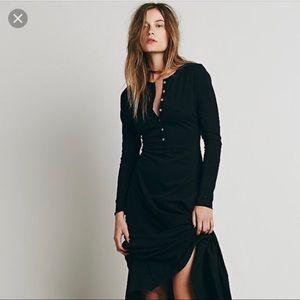 Free people el topo maxi dress Henley XS long